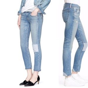 Rag & Bone Tomboy Patched Distressed Skinny Jeans